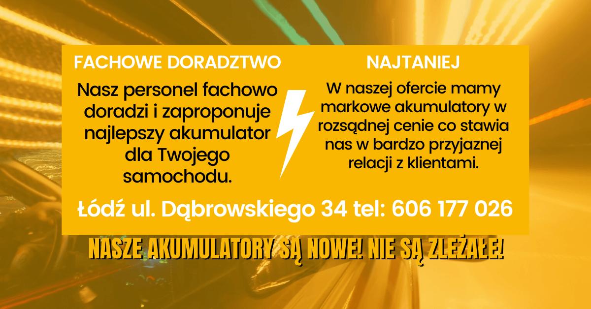 Sklep z akumulatorami Łódź
